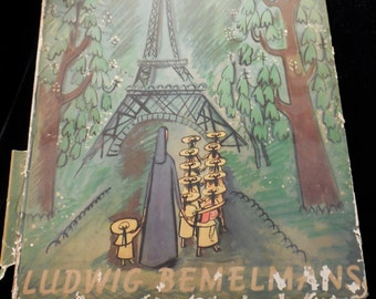 """SALE!Classic Children's book, Madeline. Loved by generations of children  First Edition Madeline by Ludwig Bemelman """" .. old house in Paris"""""""