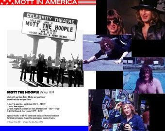 DVD • MOTT in AMERICA. 1974 American tour video shot and edited by Morgan Fisher. With extras + signed postcard. Free shipping worldwide!