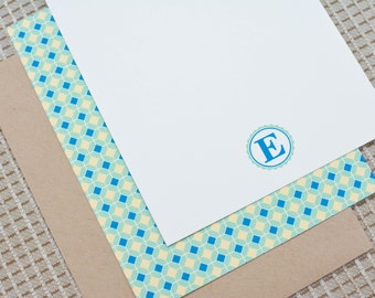 Monogram Personalized Flat Notecards