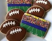 Custom Order for Kristi -- Football Cookies