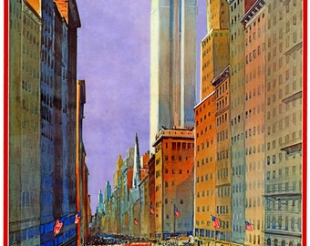 Reprint of a Vintage 1930s NYC Travel Poster