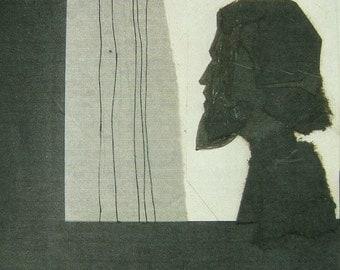 judas - Thief in the Night, mixed media/cut construction paper, the ORIGINAL, ca. 1970