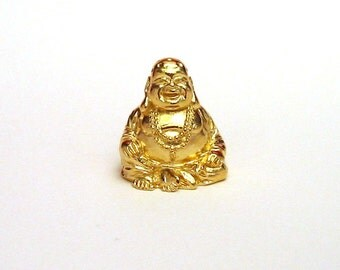 The Laughing Buddha Thimble Feng Shui Good Luck Pewter Collectible Thimble