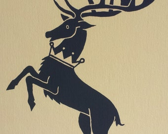 House Baratheon sigil painting from Game of Thrones