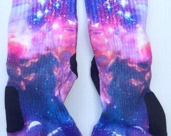 Custom Astronaut Galaxy All New Nike Elite Socks