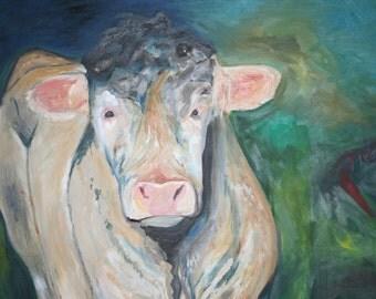 original irish oil painting of my favorite bull