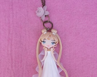 Sailor Moon Necklace in polymer clay, fimo