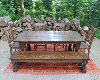 Talbot Dining Table  Farmhouse  Reclaimed Wood  Custom  Handcrafted   Handmade  MadeReclaimed Wood Farmhouse Dining Tables and by WonderlandWoodworks. Farmhouse Dining Table Made In Usa. Home Design Ideas