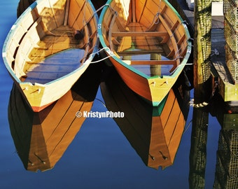 Calm Reflections Gloucester Boats Fine Art Photography