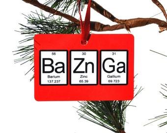 Bazinga Periodic Table of Elements Christmas Ornament