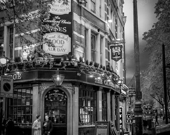London Photography, London, England, UK, The Cambridge, pub, London wall art, London decor, London pub photo