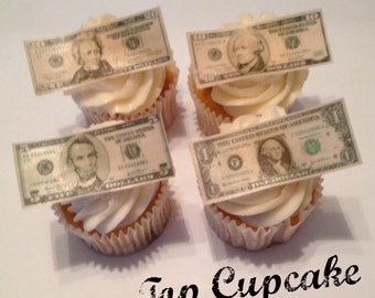 Edible Money Cupcake Toppers