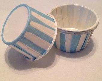 Blue Stripe Snack Cups