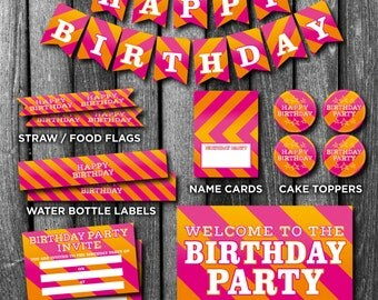 INSTANT DOWNLOAD Birthday Party Pack - Instant Download