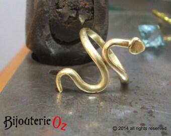 Snake Ring, Serpent ring, adjustable snake ring Handmade by BijouterieOz.