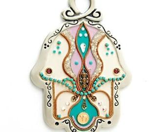 Colorful Hamsa Hand by Ester Shahaf