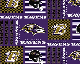 BALTIMORE RAVENS NFL Cotton Fabric By The Yard Sports Team Football 100% Cotton New
