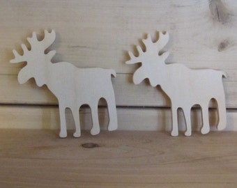 Moose Unfinished Wooden Craft Shape