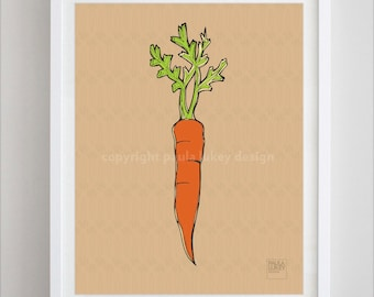 Carrot Vegetable Kitchen Food Art Print - 8x10, 5x7