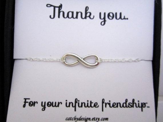 un cadeau de meilleur ami bff bracelet infini avec citation. Black Bedroom Furniture Sets. Home Design Ideas