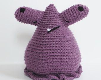 Purple Crochet Amigurumi Monster
