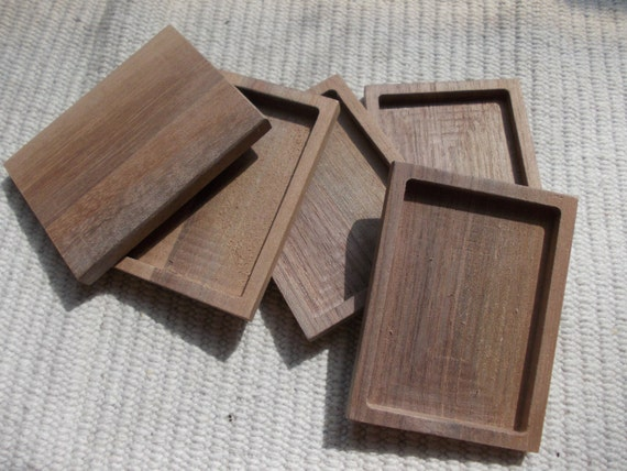 Price cut 1pc unfinished walnut wood by magicwoodenjewel for Unfinished wood frames for crafts