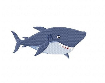 Embroidery pattern - shark