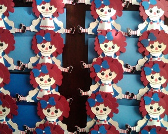 Raggedy Annie Cupcake Toppers