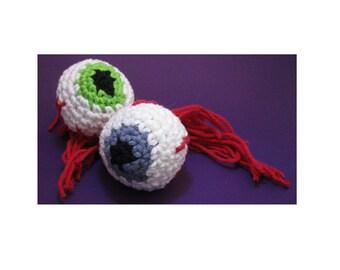 Amigurumi Crochet Pattern - Quick and Easy Creepy Eyeball for Halloween