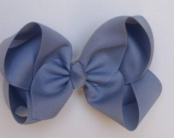 Blue Large Boutique Bow Girls Hair Bow Jumbo Hair Bow XLarge Hair Bow in Blue Large Hair Bow