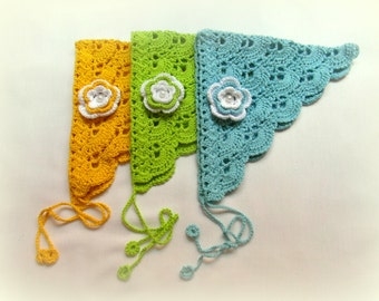 Crochet Kerchief Head Kerchief Head Scarf Crochet Headband Hair Accessories for Teens Tweens and Women Cotton Headband