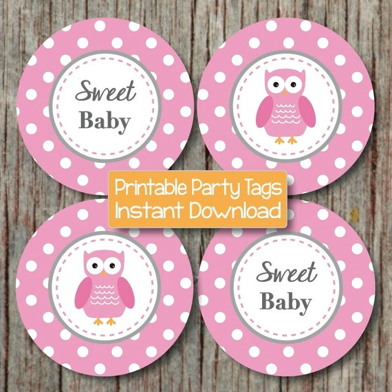 Owl Baby Shower Supplies: Items Similar To Baby Shower Decorations Owl Cupcake