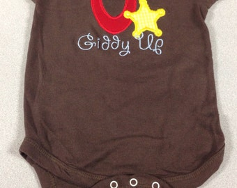 Little Cowboy/Cowgirl Giddy Up Onesie