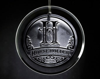 Engraved Christmas Ornament, Personalized Monogram Gifts ( M8)
