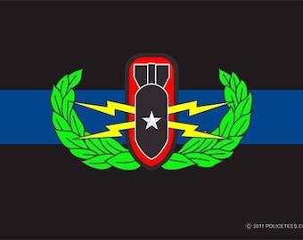 Thin Blue Line Bomb Squad Decal SKU: D1038-0003