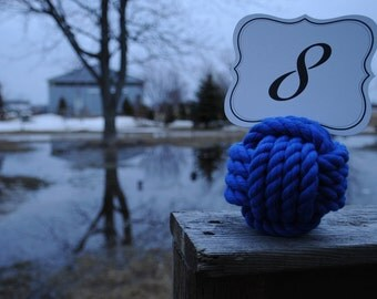 Royal Blue - Nautical Wedding - Special Events - Beach Wedding - Royal Blue Cotton Rope - (this is per knot)