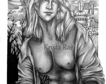Realistic Prince Adam (Beast) Print