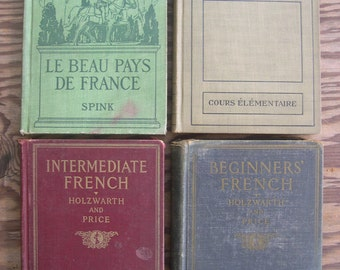 SALE --- a set of FOUR rare French books --- Reduced