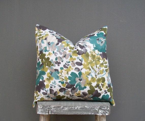 Floral Pillow Cover Decorative Throw Pillow Decor Pillow Olive : il570xN5684706441m7x from www.etsy.com size 570 x 479 jpeg 58kB