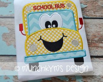Mister School Bus Applique