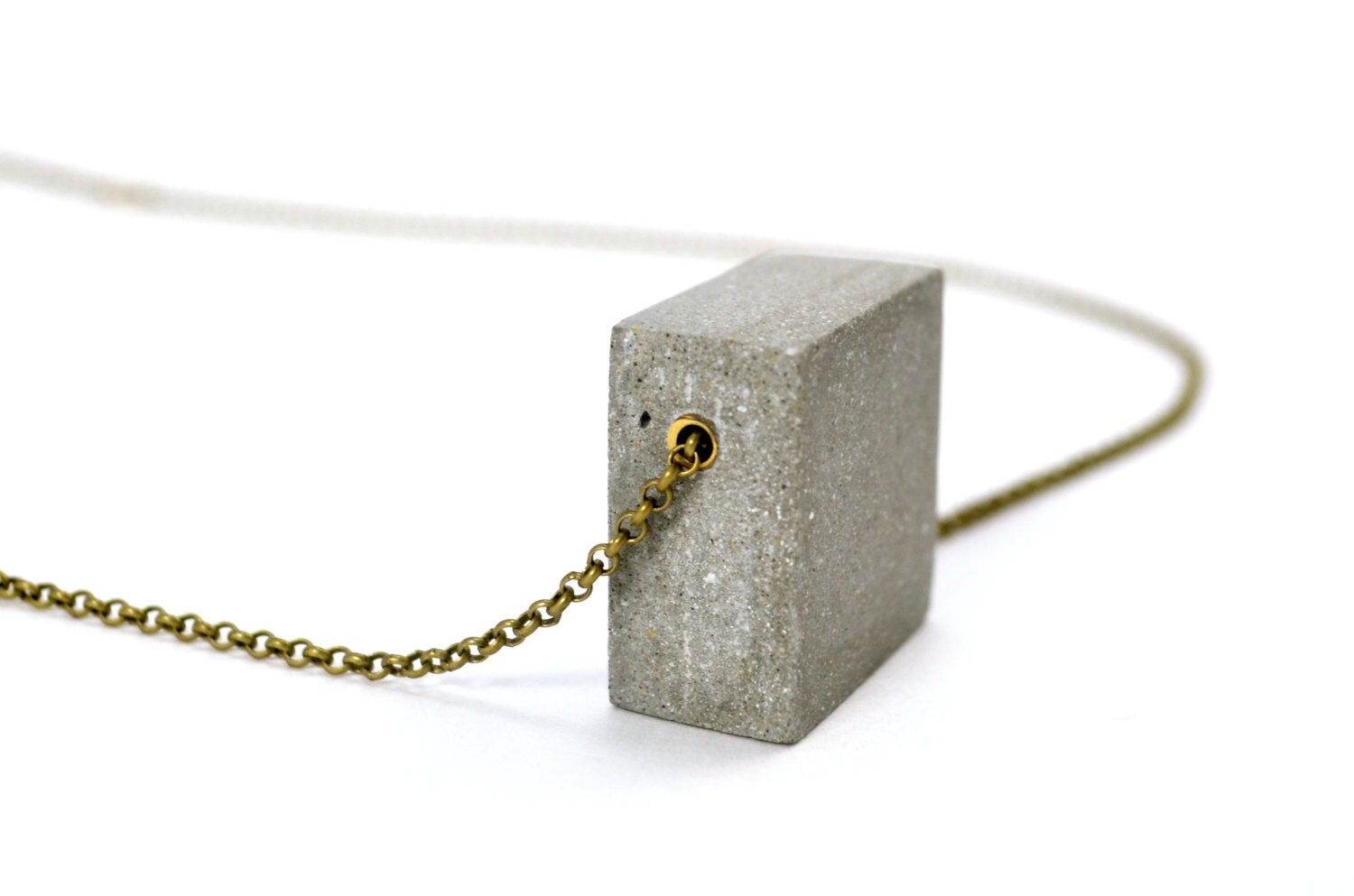 Sale 40 off concrete necklace geometric by studiocorbelle