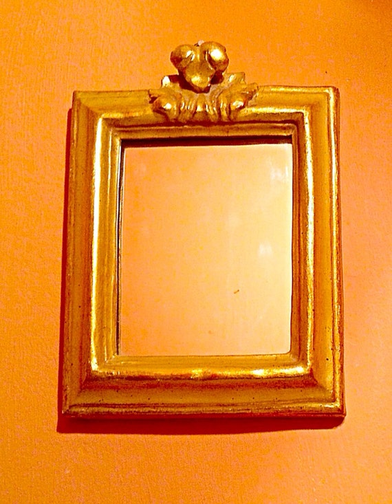Small antique borghese gold gilt framed by for Small gold framed mirrors