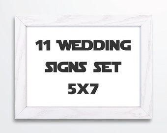 Star Wars Wedding Signs Set -  5x7 Signs - Printable PDF INSTANT DOWNLOAD