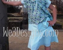 Girls Spring - Summer Turquoise Skirt Set.  Girls Lady Bug Print Top - Skirt set in sizes 2T, 3T, 4, 5, 6, 7, 8 and 10, Perfect for Tweens!