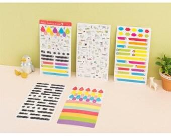 Happy Marking Deco Sticker - 5 Sheets