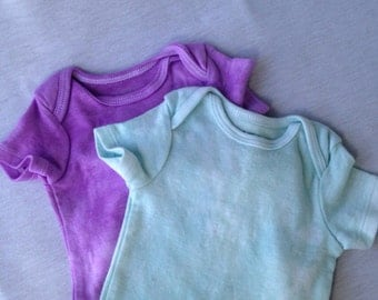 Hand Dyed Onesies 0-3 months