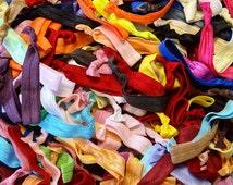 SALE Grab Bag of 100 Hair Ties Bridesmaid Party Favors Yoga Birthday Ponytail ribbon elastic hair ties LLR Lularoe Customer