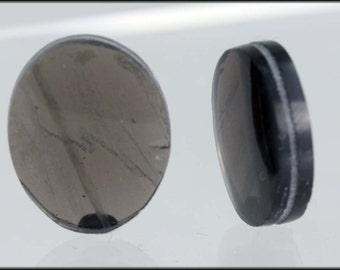 Semi precious stones -  Sold in Pairs             Obsidian Transparent