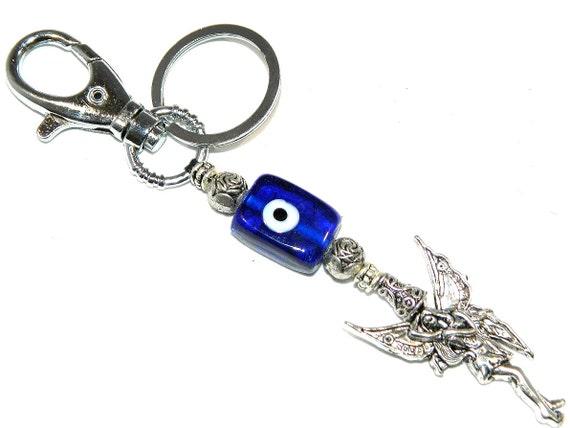 0223 Fairy & Lucky Evil Eye Keyring / Bag Hanger by giftsbyalex