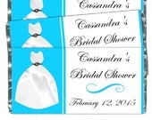 Printable Candy Wrappers, Wedding Dress Candy Wrappers, fit over chocolate bars, CUSTOM Bridal candy wrapper - bridal shower, wedding shower